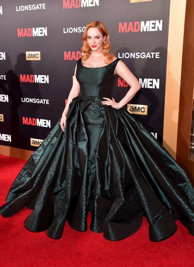 Christina Hendricks in Zac Posen for the AMC Mad Men finale celebration