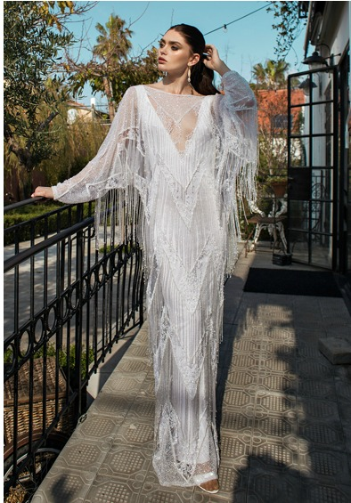 Fringed Wedding Dress from the Lorraine Collection