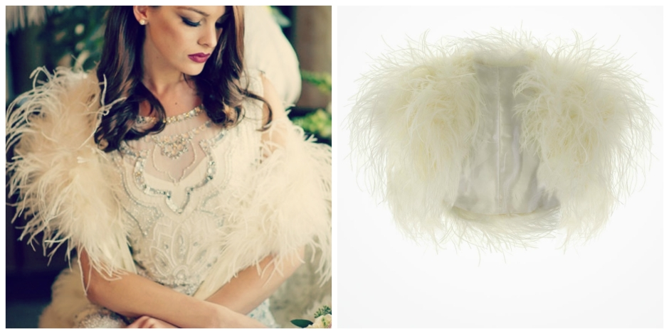 Feathered Bridal Cover Ups