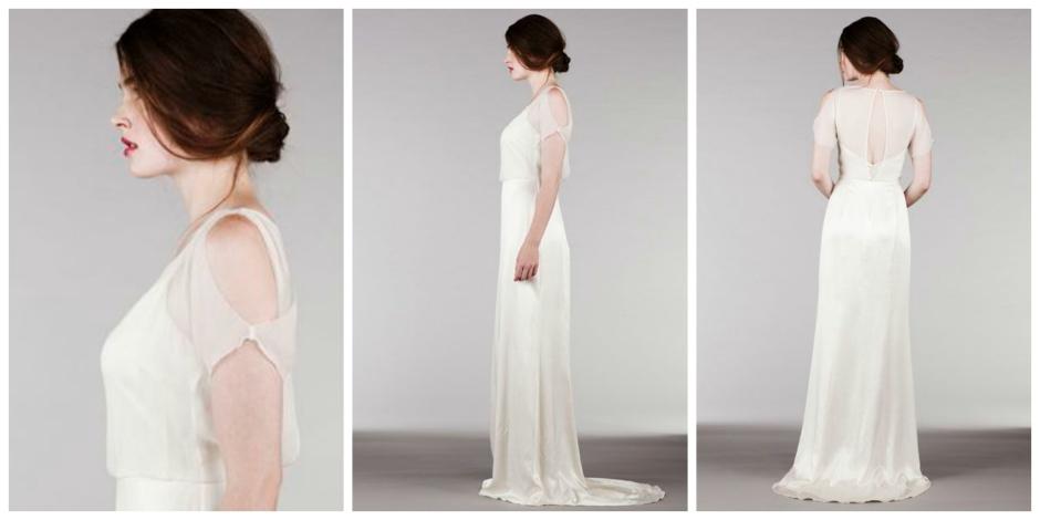 SAJA Wedding Dress Lightweight, simple, destination brides