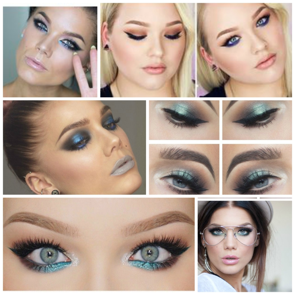 Our fave blue eye makeup looks by Nikki Tutorials and Linda Hallberg