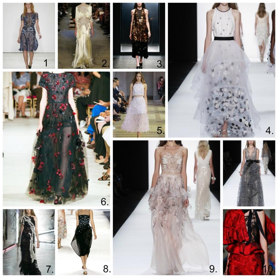 Textured Dresses New York Fashion Week