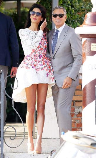 Amal Clooney wedding: Day after :Giambattista Valli Couture dress