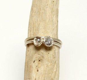 Unique engagement rings rough diamond
