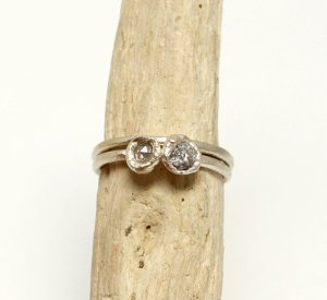 Unique engagement rings rough diamond
