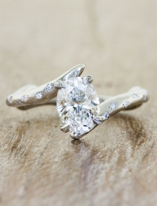 unique engagement ring from Ken & Dana designs
