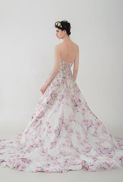 Felicia | AnnyLin Bridal | 2016 Collection | Floral printed wedding dress