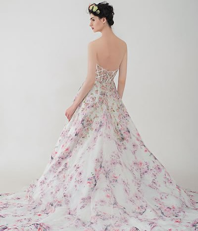 Felicia | AnnyLin Bridal | 2016 Collection | Floral printed wedding dress