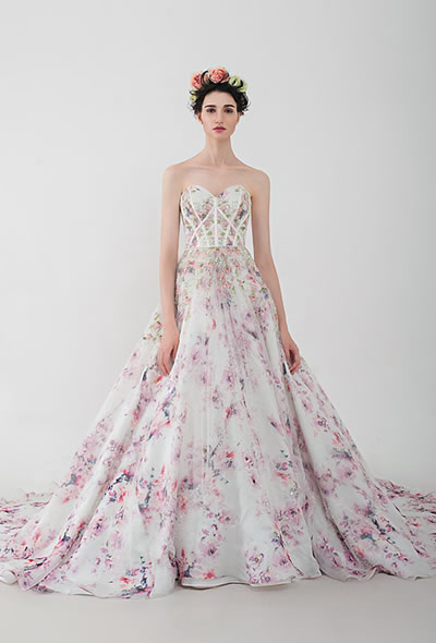 Felicia | AnnyLin Bridal |2016 Collection Floral printed wedding dress