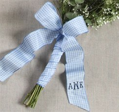 Blue flower ribbon