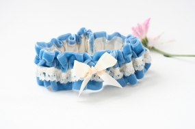 Blue garter