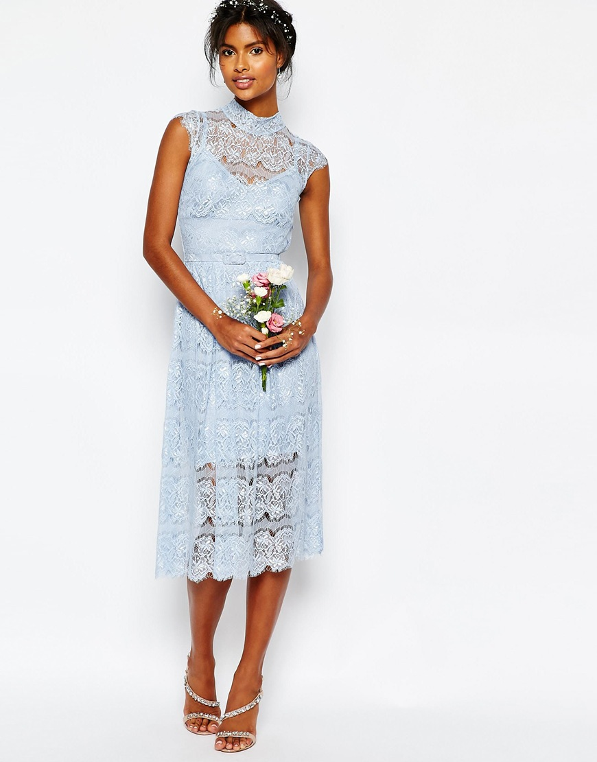 Body Frock Wedding Peony Blue Lace Dress | ASOS |£195
