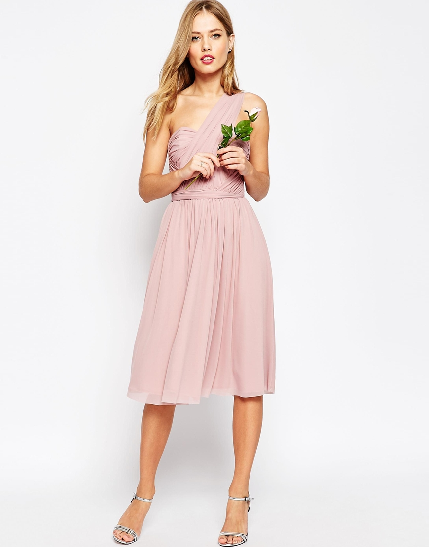 ASOS WEDDING Multiway Mesh Midi Dress | ASOS | £65