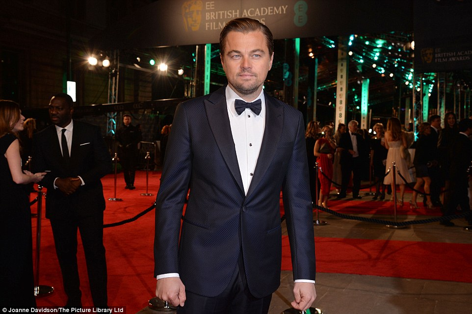 Leonardo DiCaprio at the BAFTAs 2016