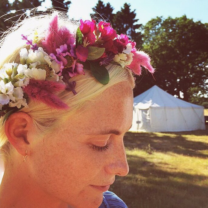 Rock N Rose Floral Crown Floral Headpiece