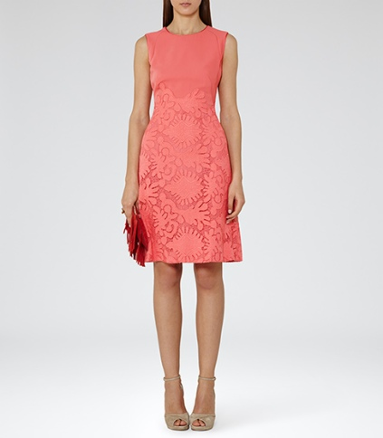 Reiss   REBBIE - LACE FIT AND FLARE DRESS  £225