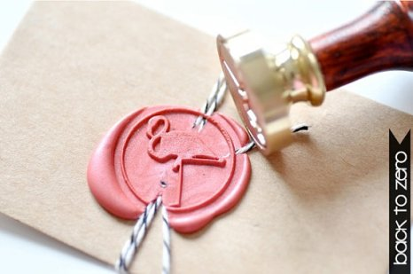 B20 Wax Seal Stamp Flamingo Bird | via Etsy