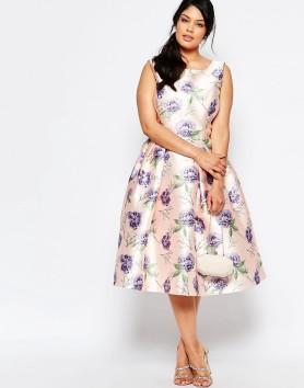 Chi Chi London| Prom Skater Dress In Floral Print| £58 via ASOS