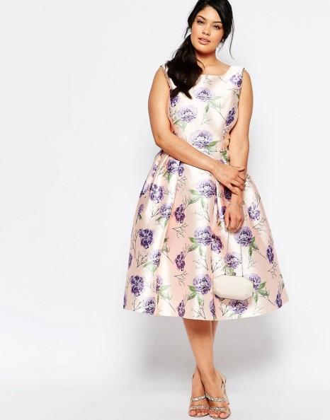 Chi Chi London  Prom Skater Dress In Floral Print  £58 via ASOS