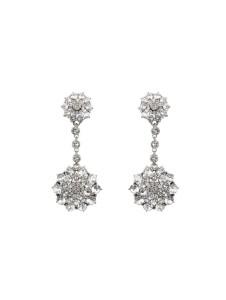 Oscar de la Renta bridal earrings