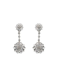 Oscar de la Renta bridal earrings
