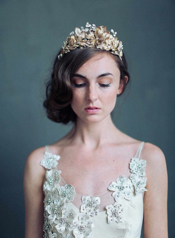 Twigs and Honey Bridal headpiece crown