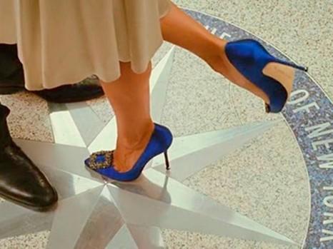 Carrie Bradshaw Blue Manolo's
