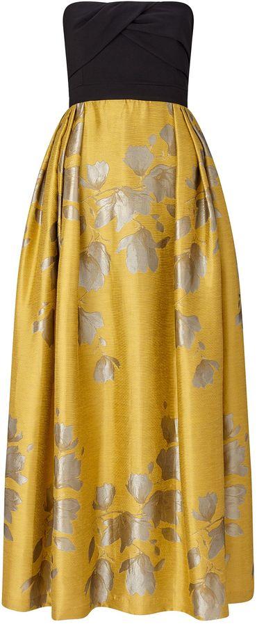 ARIELLA GIGI BANDEAU JACQUARD SKIRT DRESS