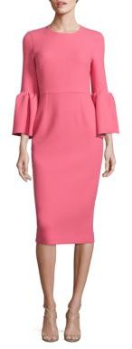 bell-sleeve-sheath-dress