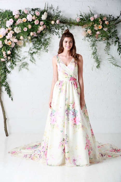 Charlotte Balbier floral wedding dress