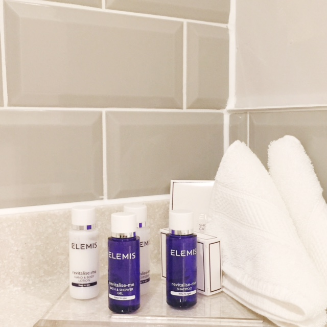 elemis in bathroom
