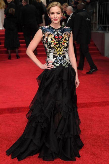 Emily Blunt at 2017 BAFTAs