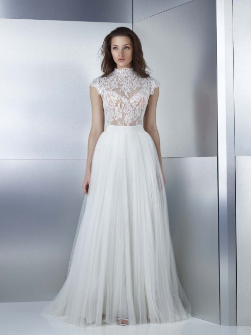 Gemy Maalouf high neck wedding dress