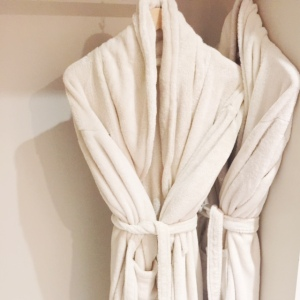 bathrobes at a hotel