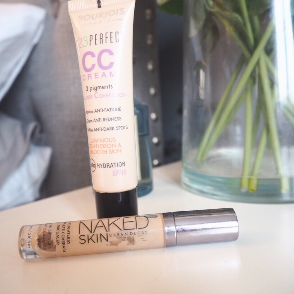 base CC Cream and concealer