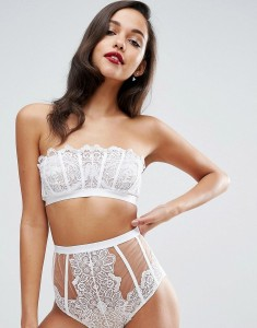ASOS BRIDAL CODY EMBROIDERED LACE UNDERWIRE BRA