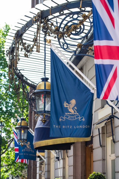 Flags outside The Ritz