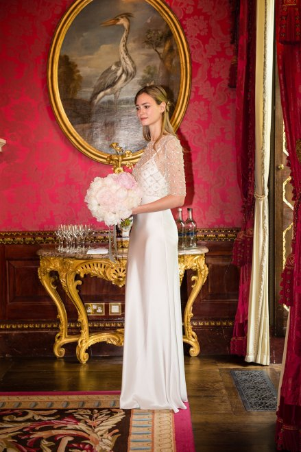 Model wearing Jenny Packham 2018 Bridal collection at The Ritz