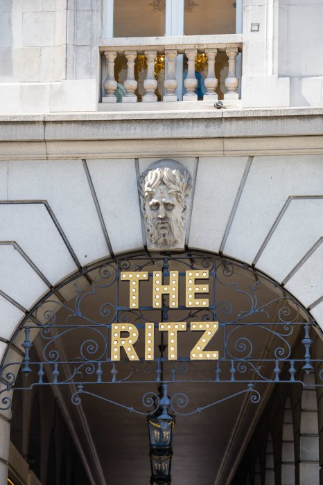 The Ritz hotel entrance