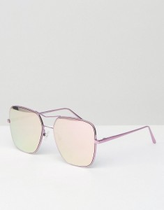 QUAY AUSTRALIA STOP AND STARE SQUARE AVIATOR WITH PINK MIRROR LENS