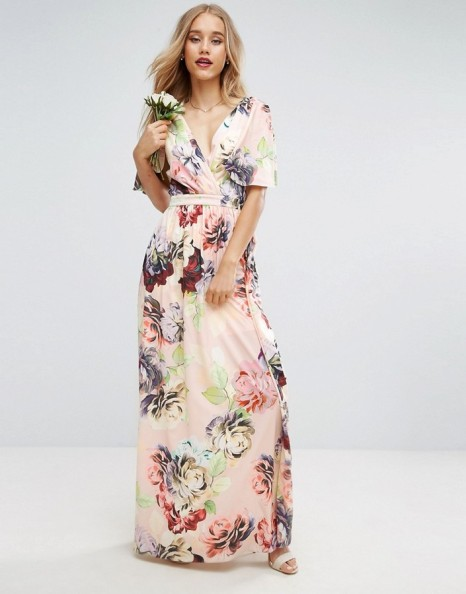 ASOS Soft Flutter Sleeve Maxi Dress