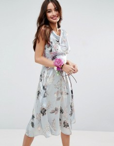 ASOS Summer 40s Silver Rose