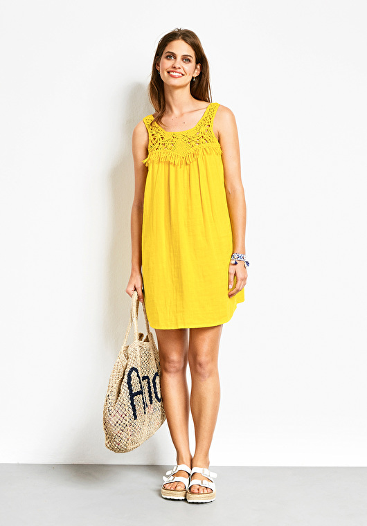 HUSH MACRAME BEACH DRESS