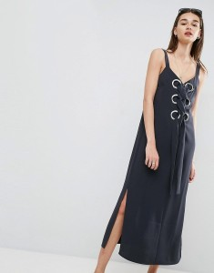 ASOS Eyelet Detail Maxi Dress