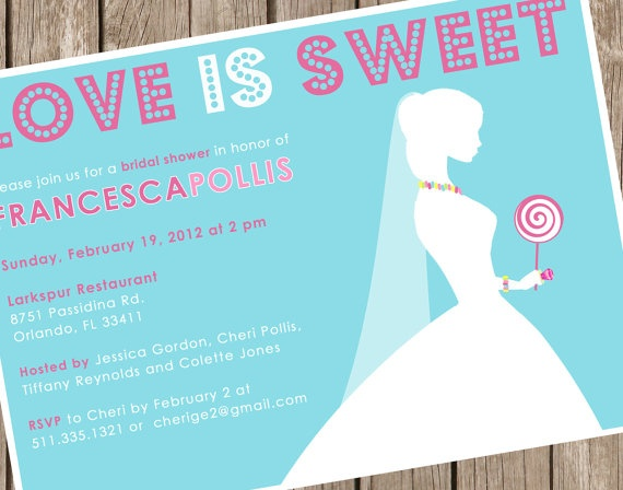 Candy bridal shower invite