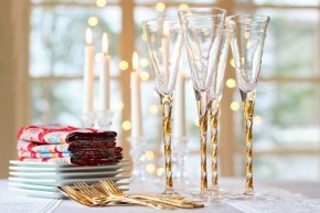 Candy champagne flutes