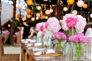 Candy flowers on table