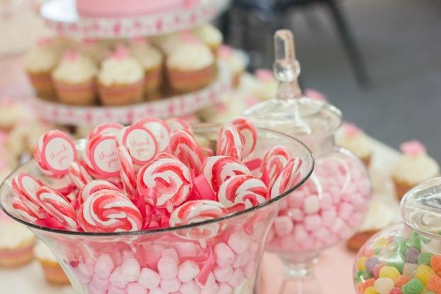 Candy lollipops in jar