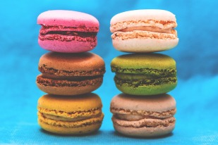 Candy macaroons stack