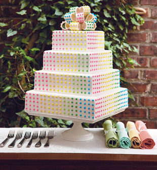 Candy wedding cake